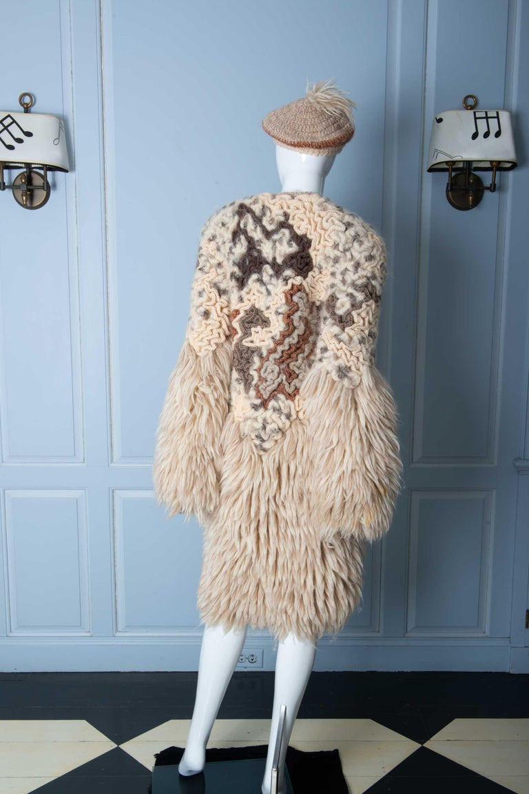 Knit Coat with Beret 1