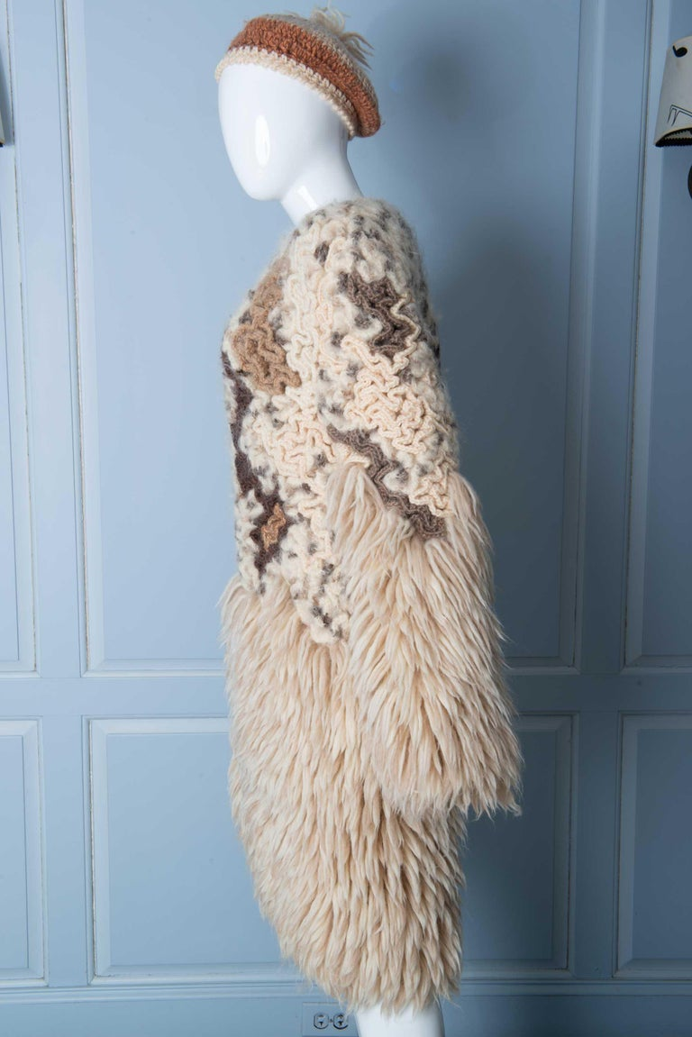 Knit Coat with Beret 3