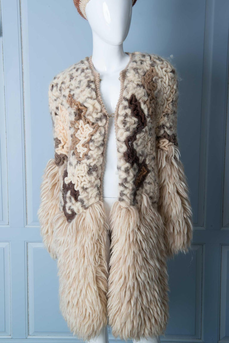 Knit Coat with Beret 4