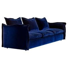 Knit Midnight-Blue Sofa by Enrico Cesana