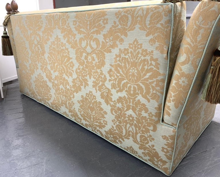 Late 20th Century Knole Sofa with Custom Upholstery For Sale
