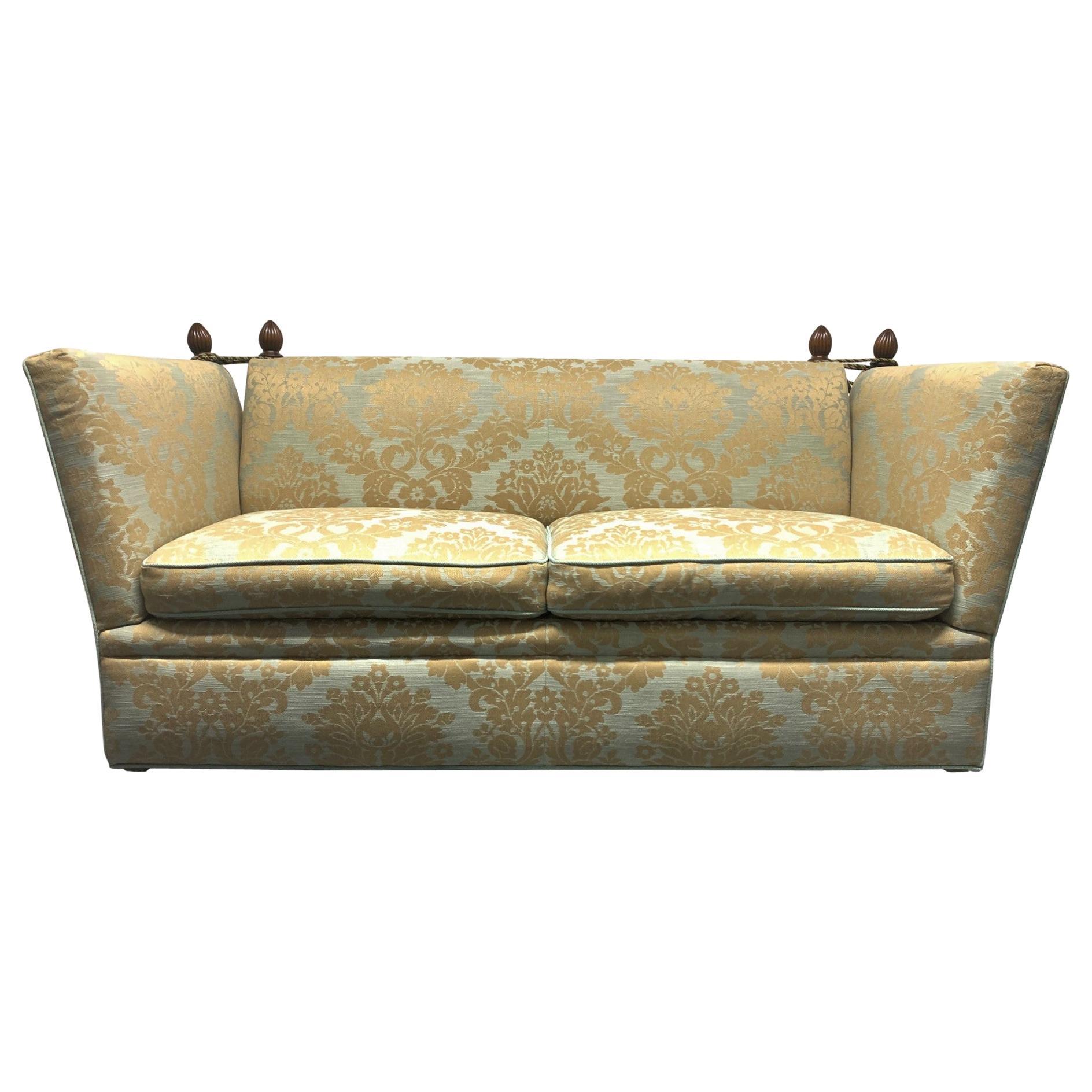English Knole Sofa with Custom Upholstery