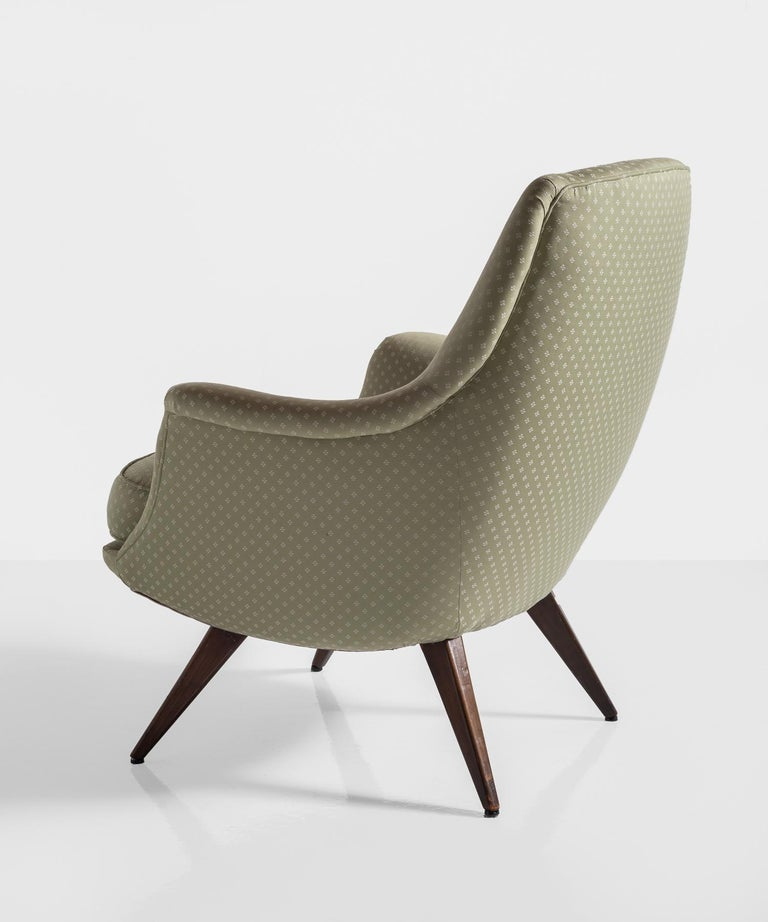 Knoll Armchair by K. Antimott, Germany, circa 1950 In Good Condition For Sale In Culver City, CA