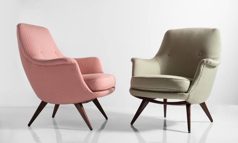 Knoll Armchair by K. Antimott, Germany, circa 1950 For Sale 1