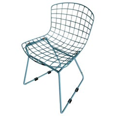 Knoll Baby Blue Bertoia Side Chair Toddler Sized