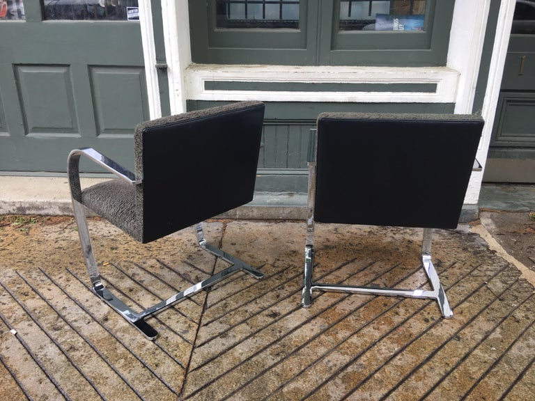 Mid-Century Modern Knoll Brno Chairs by Mies Van der Rohe For Sale