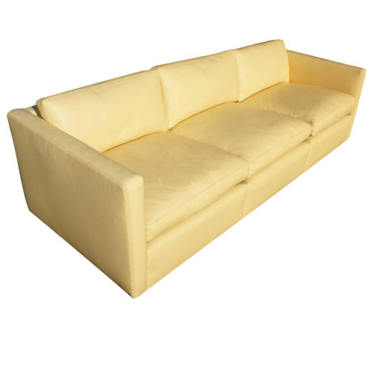 Knoll Charles Pfister 1053-P Sofa Three-Seat Leather For Sale