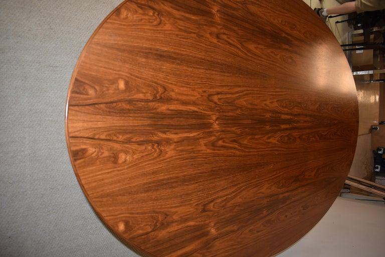 Knoll chrome and rosewood conference or dining table 96