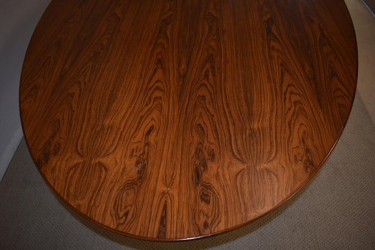 Machine-Made Knoll Chrome and Rosewood Conference or Dining Table For Sale