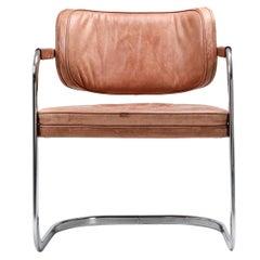 Knoll Cognac Leather Armchair