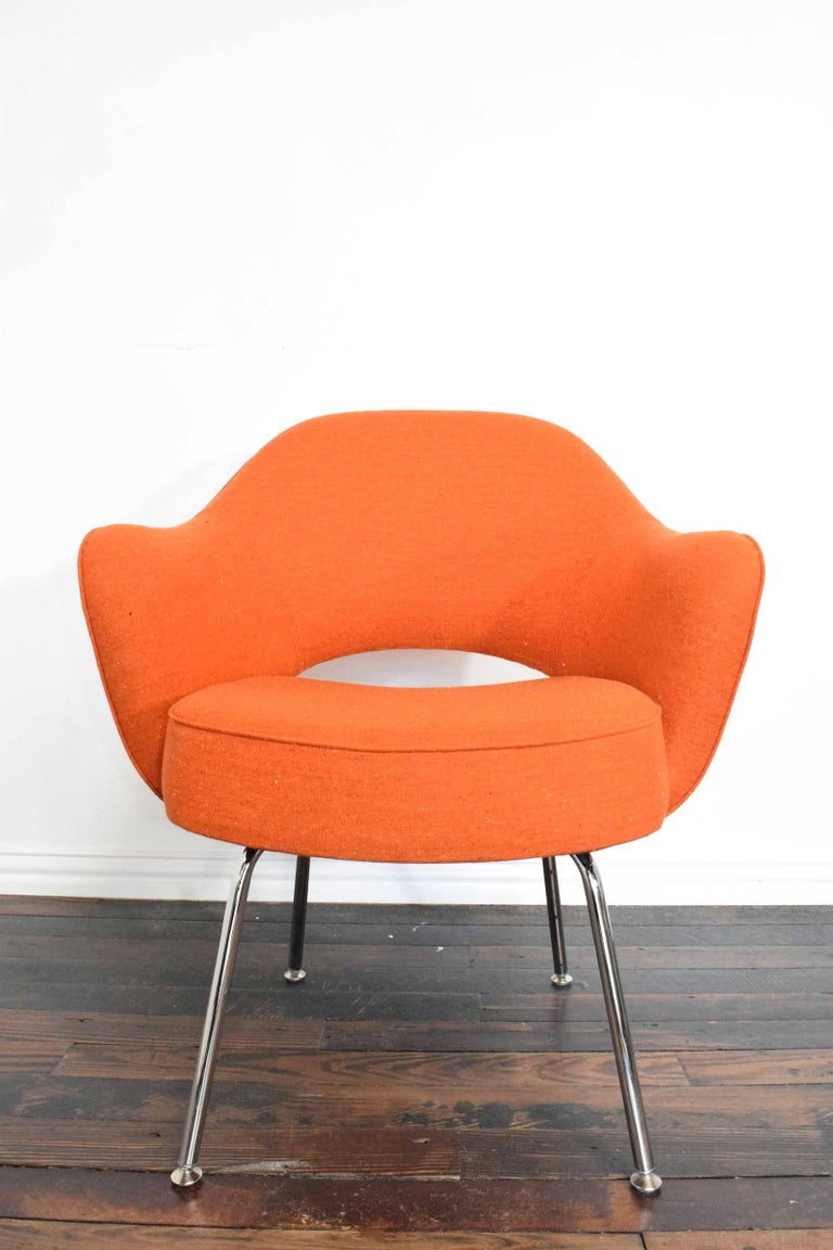 We have up to six available in this Knoll wool textile. It is soft.