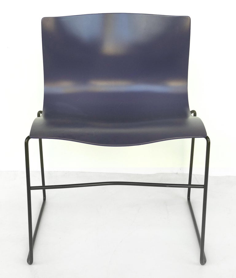 Knoll Ergonomic handkerchief side chairs by Massimo and Lelia Vignelli circa 1980s