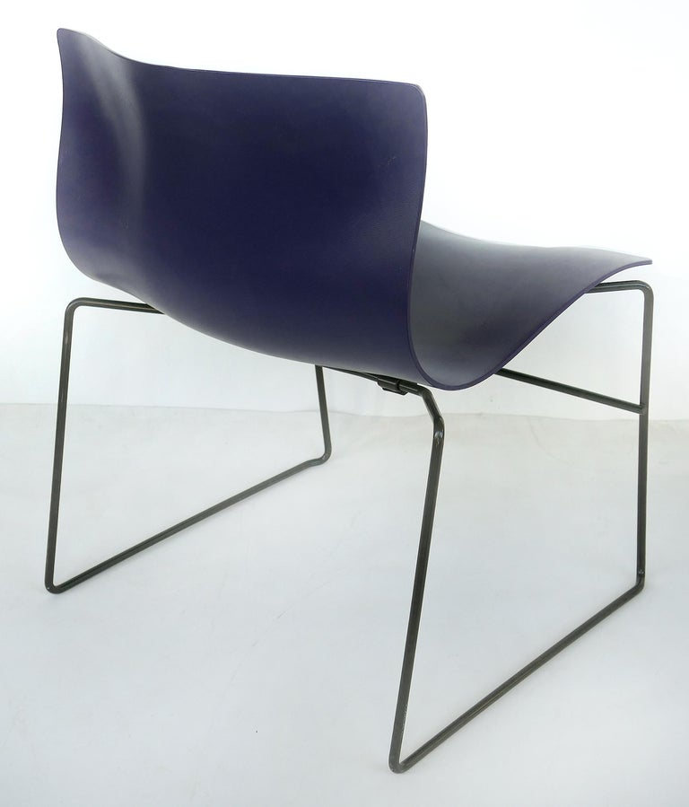 American Knoll Ergonomic Handkerchief Chairs by Massimo and Lelia Vignelli, circa 1980s For Sale