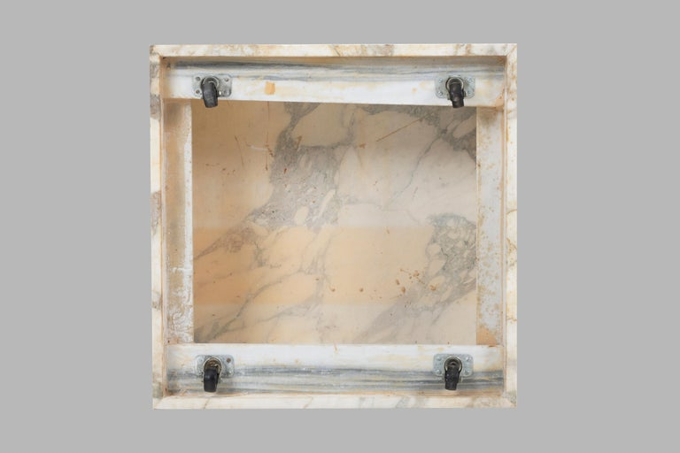 Marble Knoll Gae Aulenti Style Calacatta Cube Coffee Table For Sale