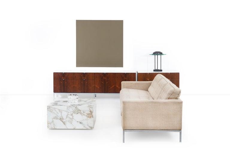 Knoll Gae Aulenti Style Calacatta Cube Coffee Table For Sale 2