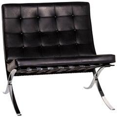 Knoll International Barcelona Chair Leather Armchair Black