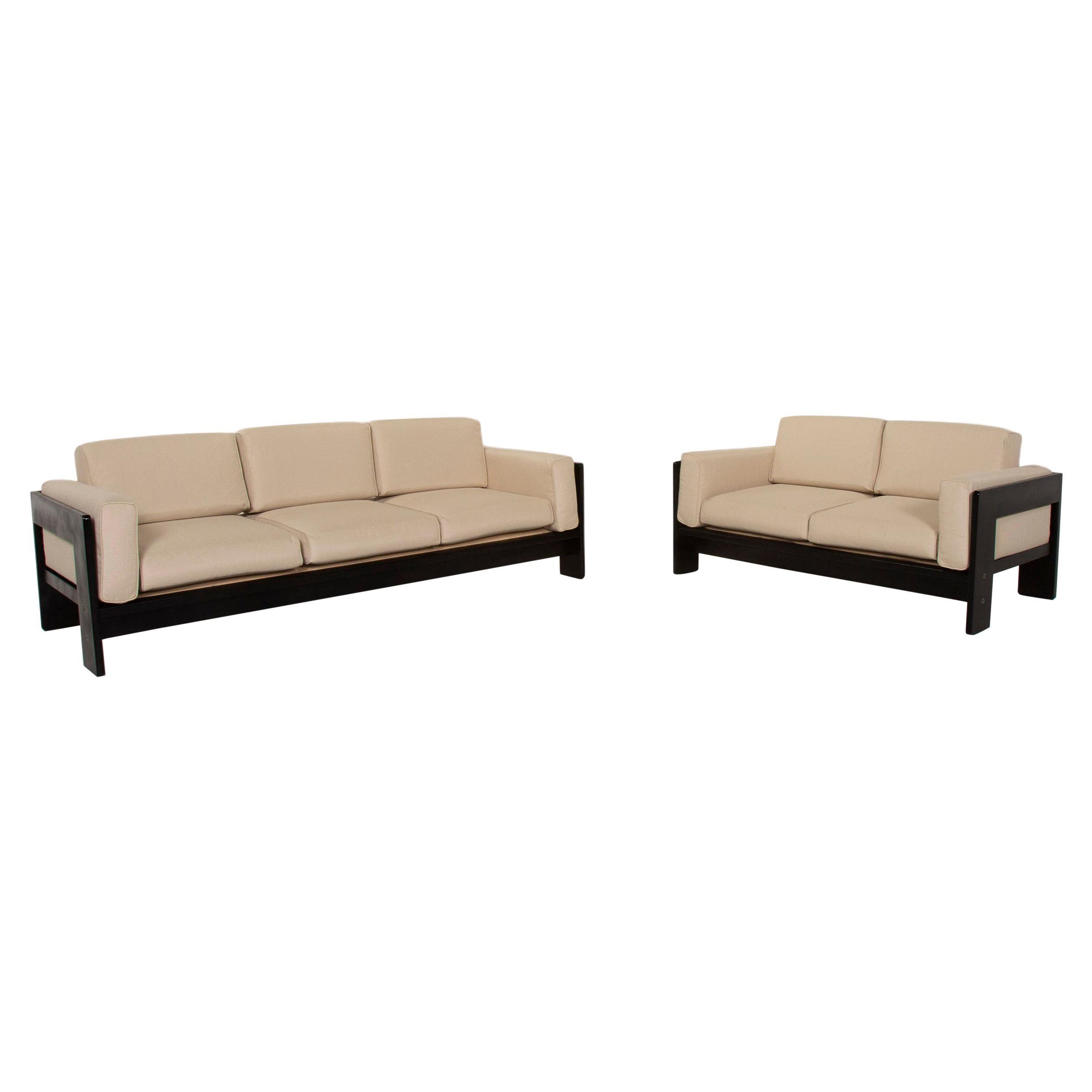 Knoll International Bastiano Fabric Sofa Set Cream 1x Three-Seater 1x