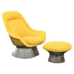 Knoll International Easy Chair and Ottoman by Warren Platner, 1960s
