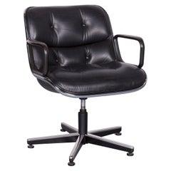 Knoll International Executive Chai Leather Armchair Black Chair