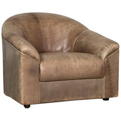 Knoll International Leather Armchair Brown Chair