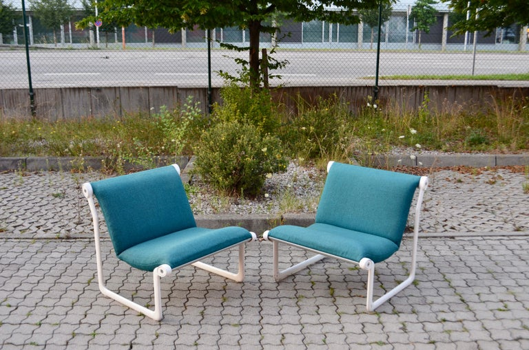 American Knoll International Sling Lounge Chair by Hannah Morrison Set of 2 For Sale