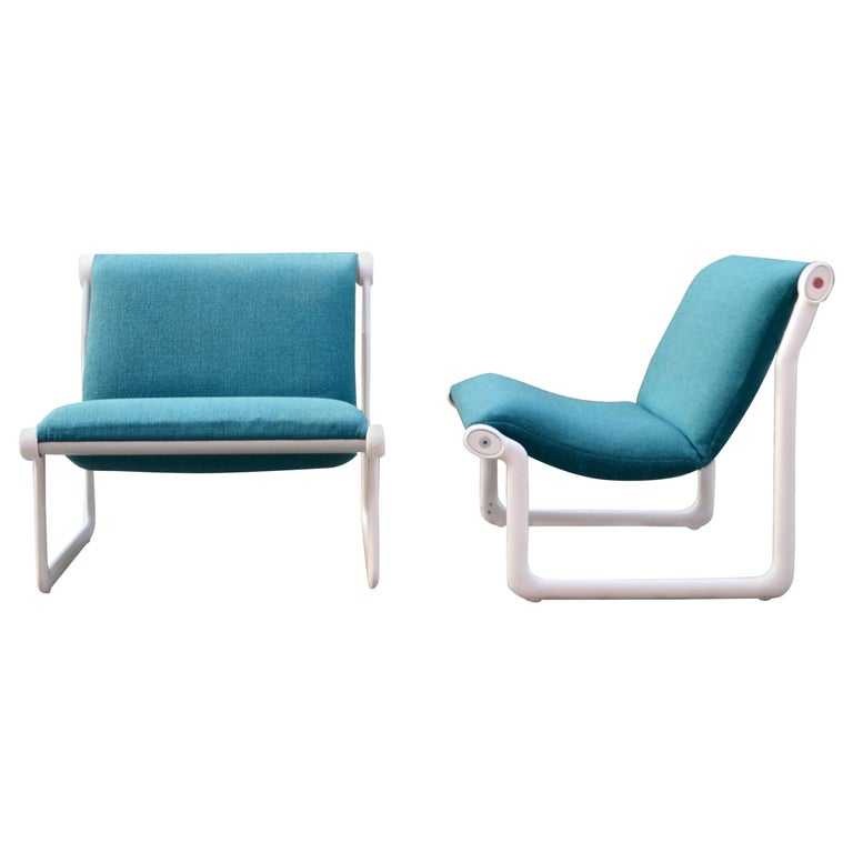 Knoll International Sling Lounge Chair by Hannah Morrison Set of 2 For Sale