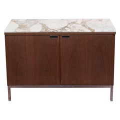 Knoll Marble Top Walnut Credenza