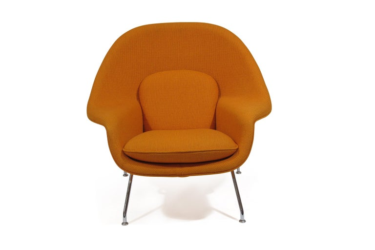 American Knoll Medium Womb Chair in Orange Cato For Sale