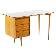 Knoll Midcentury Ashwood Writing Desk, Italy, 1950s