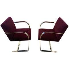 Knoll Mies van der Rohe Brno Flat Bar Chairs