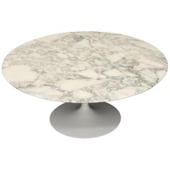 Knoll Round Marble Top Tulip Saarinen Coffee Table