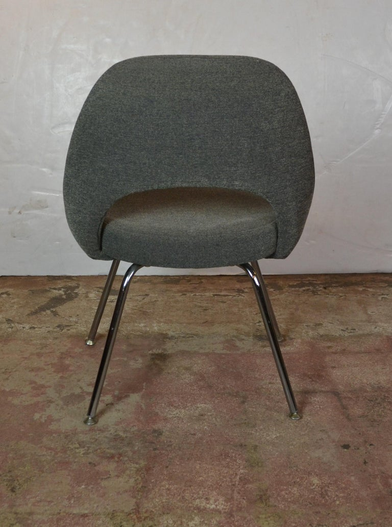 Velvet Knoll Saarinen Chairs For Sale