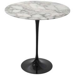 Knoll Saarinen Side Tulip Table with Calacatta Marble Top