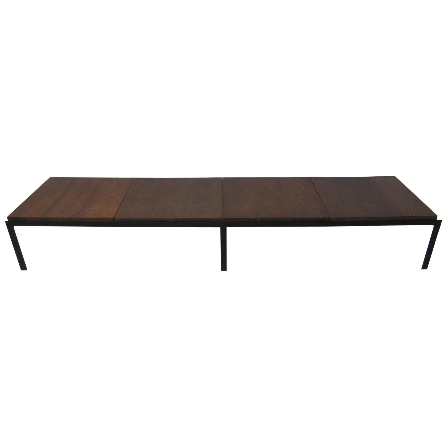 Knoll Coffee Table / Bench T Angled Framed in Walnut