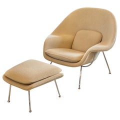Knoll Womb Chair and Ottoman Taupe