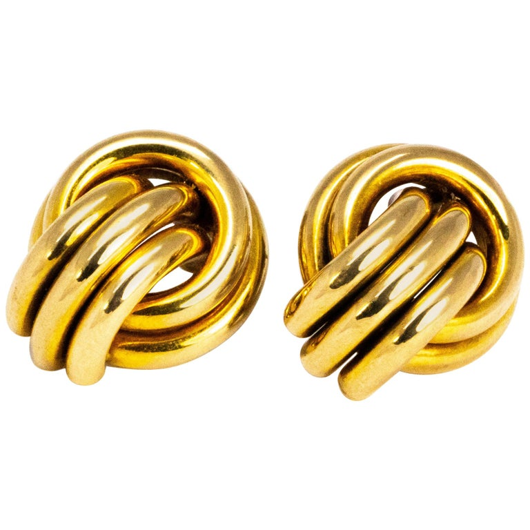 Knot Detail 9 Carat Gold Stud Earrings