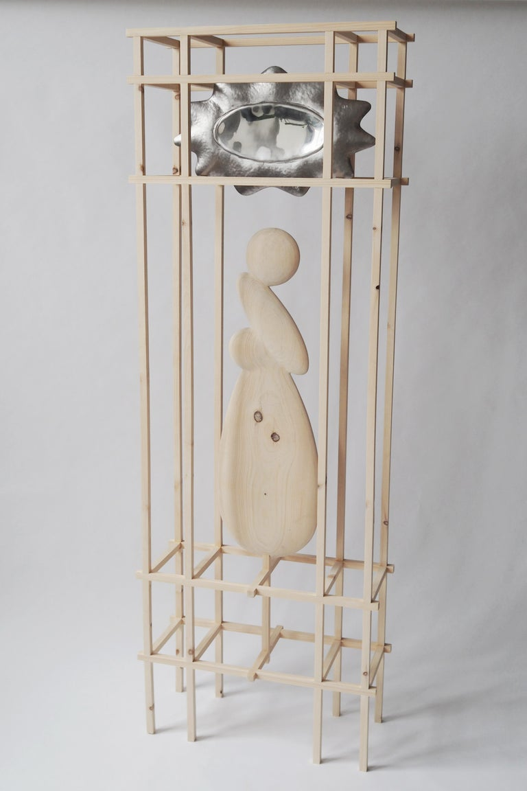 Knotty Pine Mirror by Soren Ferguson For Sale