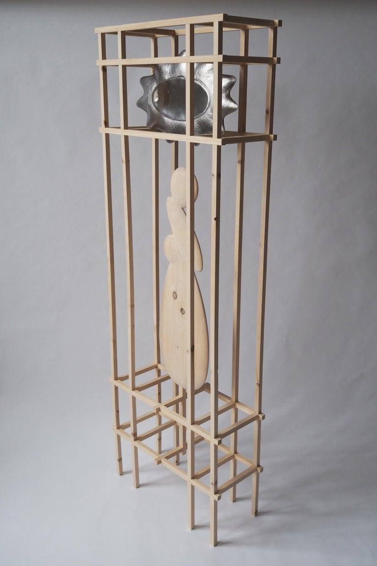 Contemporary Knotty Pine Mirror by Soren Ferguson For Sale