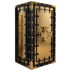 Knox Luxury Safe in Black with Brass Detail by Boca do Lobo
