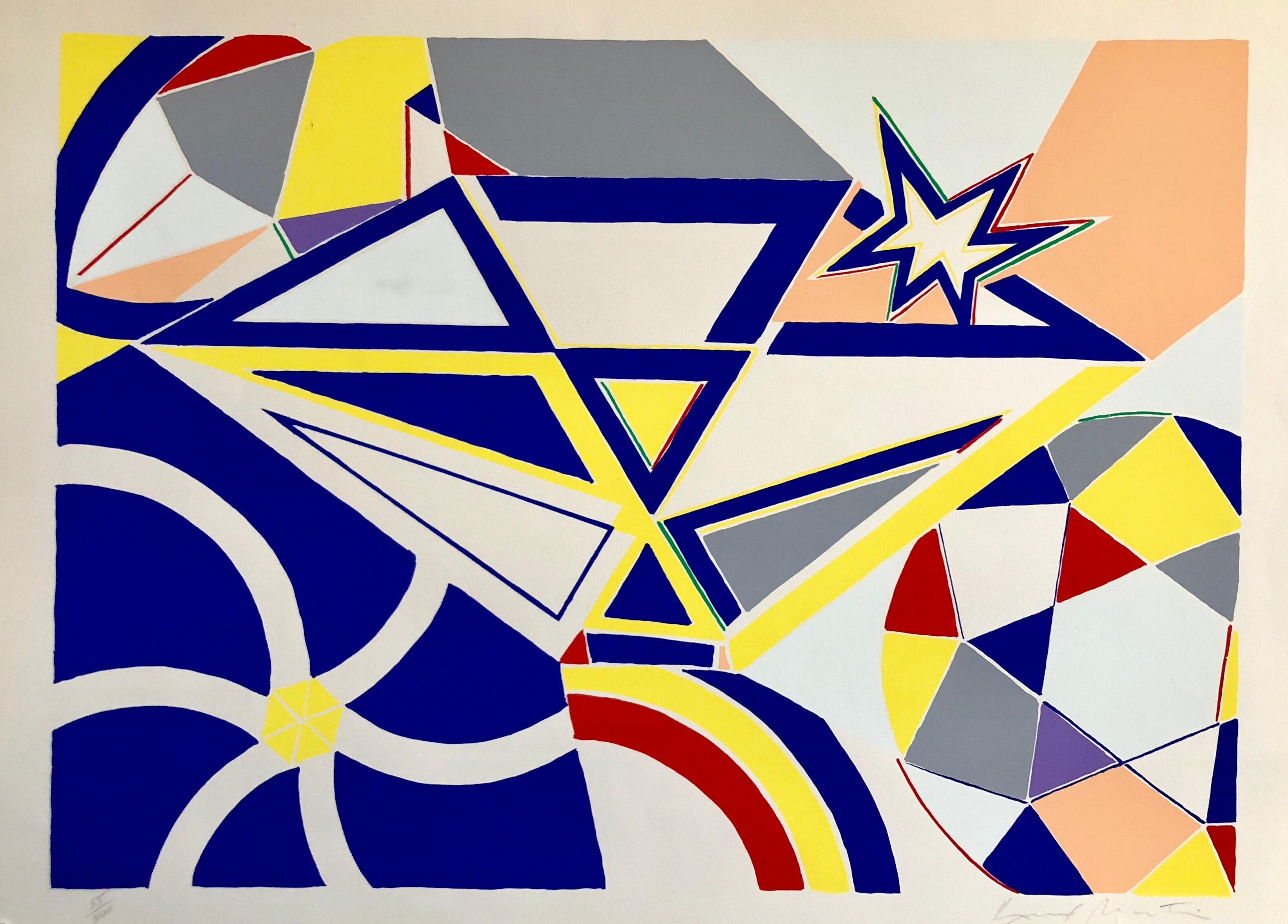 Pop Art Abstract Lithograph Silkscreen Abstract Geometric