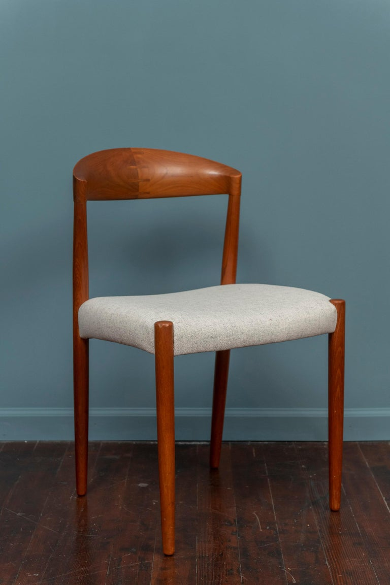 Knud Andersen Danish Dining Chairs In Good Condition For Sale In San Francisco, CA