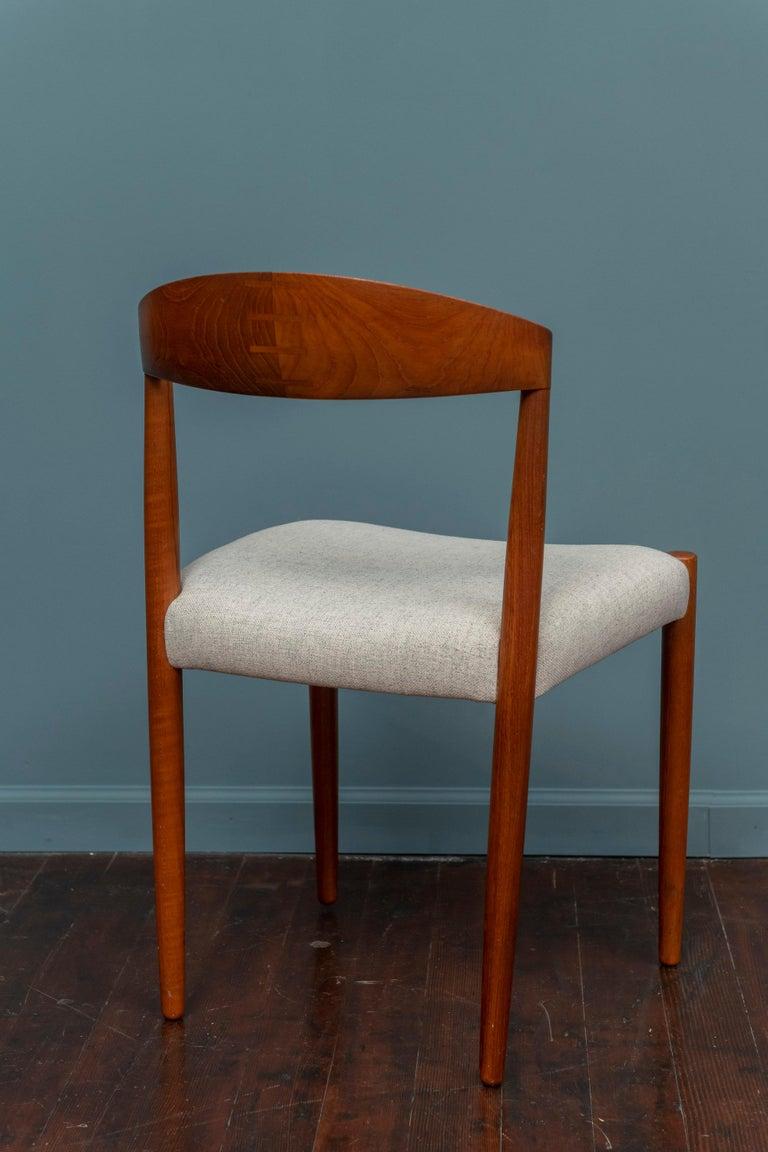 Teak Knud Andersen Danish Dining Chairs For Sale