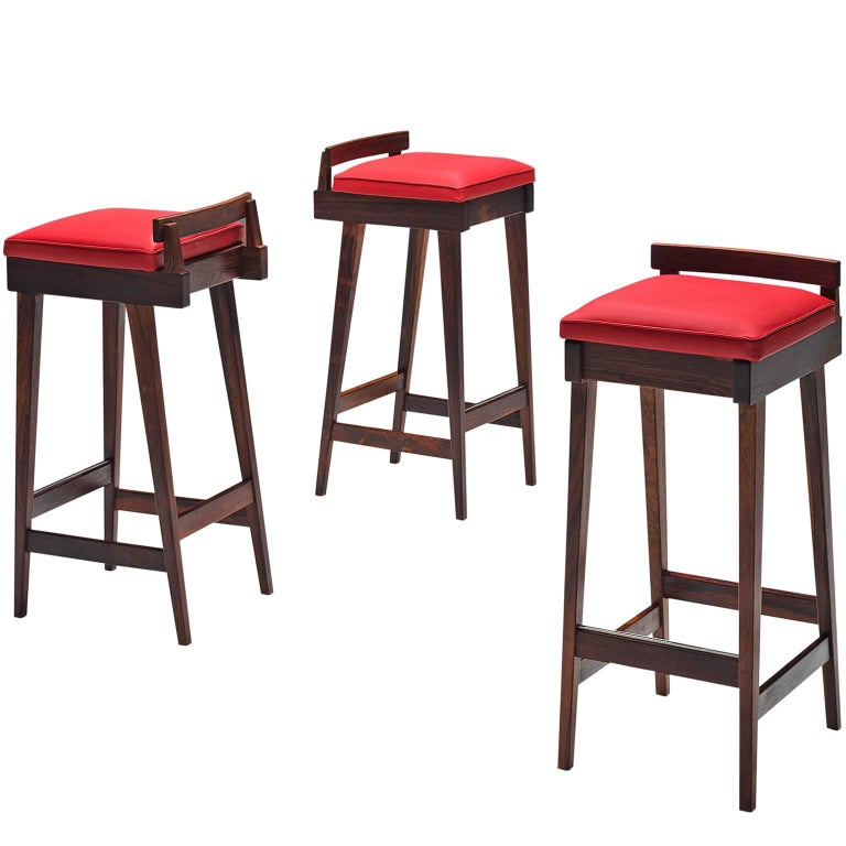 Knud Bent Barstools in Solid Rosewood