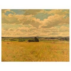 Knud Edsberg, Denmark, Oil on Canvas, Landscape, Dated 1948