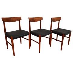 Knud Færch, Model 343, Danish Design, Chairs, Teak, Leather, Restored