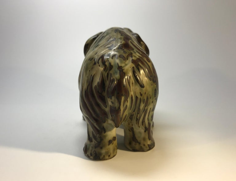 Knud Kyhn Royal Copenhagen, Designed 1920's Sung Glaze Stoneware Mammoth #20207 For Sale 1