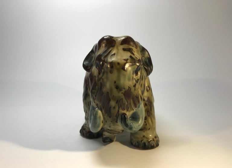 Knud Kyhn Royal Copenhagen, Designed 1920's Sung Glaze Stoneware Mammoth #20207 For Sale 2