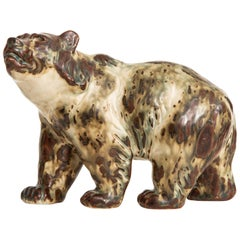 Knud Kyhn Ceramic Bear Nr 20155 Produced by Royal Copenhagen in Denmark