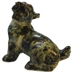 Knud Kyhn for Royal Copenhagen, Denmark Sung Glaze Stoneware Terrier Dog # 20129
