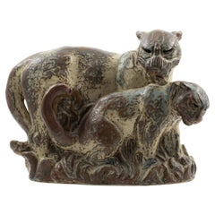 Knud Kyhn for Royal Copenhagen, Panther with Cub